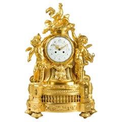 Important Gilt Bronze Clock