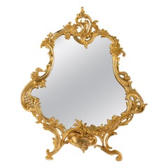 Important Gilt Bronze Table Mirror, Napoleon III Period, 1870-1880