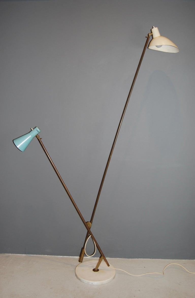 Vittoriano Vigano Important  Floor Lamp, model 1049 , ca 1951  For Sale 1