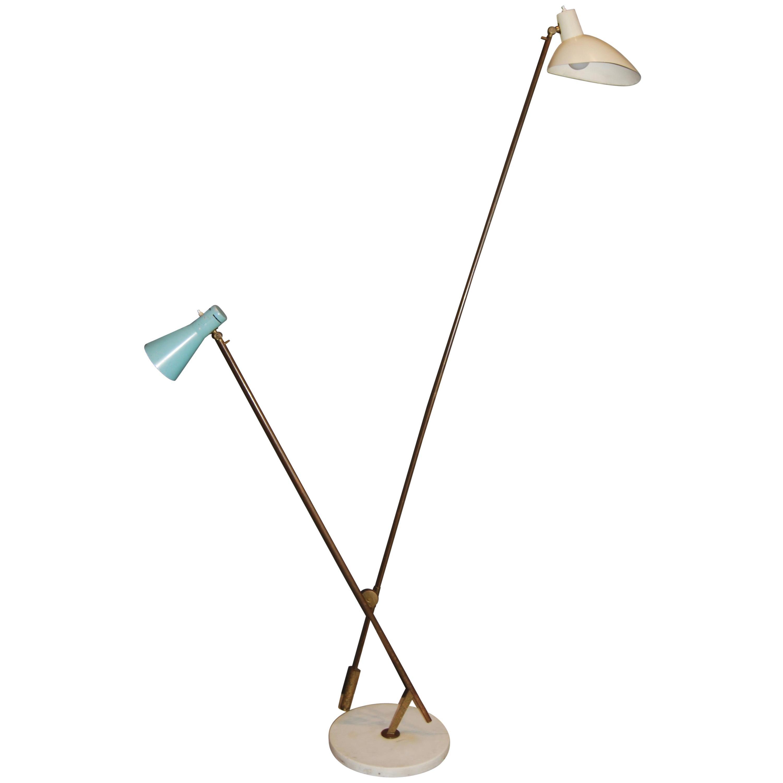 Vittoriano Vigano Important  Floor Lamp, model 1049 , ca 1951
