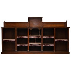 Important Gothic Pugin Style Victorian Walnut Dwarf Open Bookcase