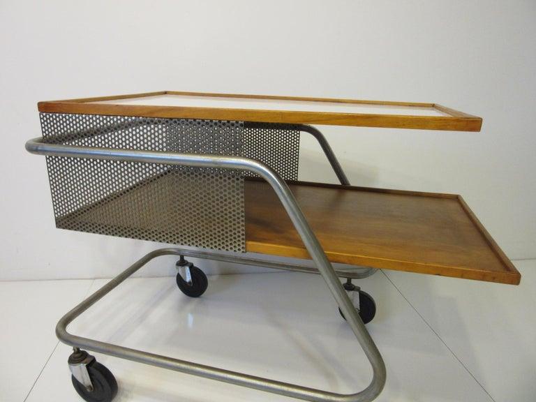 Mid-Century Modern Important Industrial Styled Bar Cart by Franziska & James Hosken For Sale