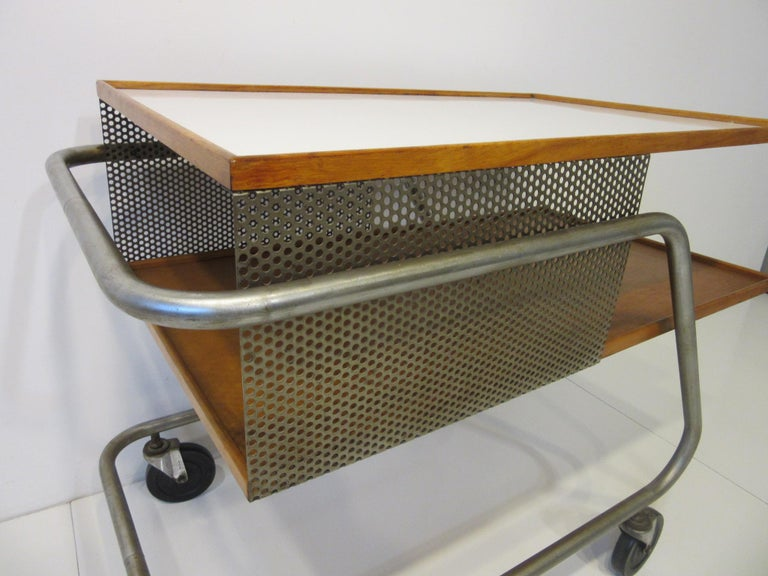 American Important Industrial Styled Bar Cart by Franziska & James Hosken For Sale