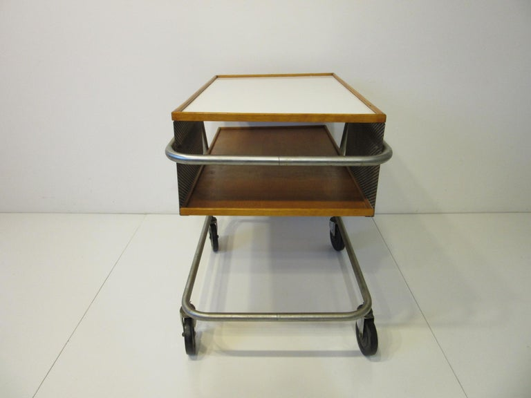 Important Industrial Styled Bar Cart by Franziska & James Hosken In Good Condition For Sale In Cincinnati, OH