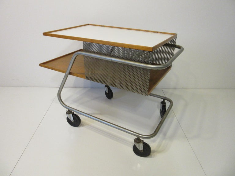 20th Century Important Industrial Styled Bar Cart by Franziska & James Hosken For Sale