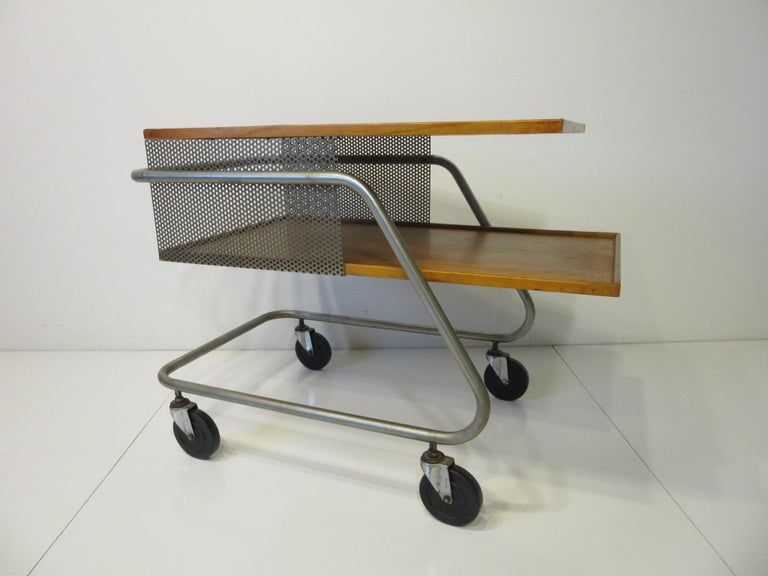 Important Industrial Styled Bar Cart by Franziska & James Hosken For Sale 2