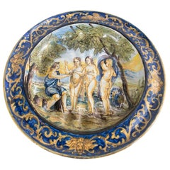 """Important Italian Plate from the 18th Century """"The Discord"""""""