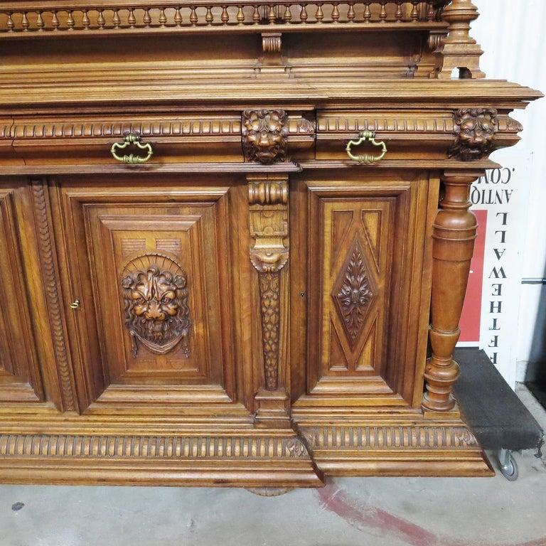 Renaissance Revival Important Italian Renaissance Sideboard Cabinet, Late 19th Century For Sale