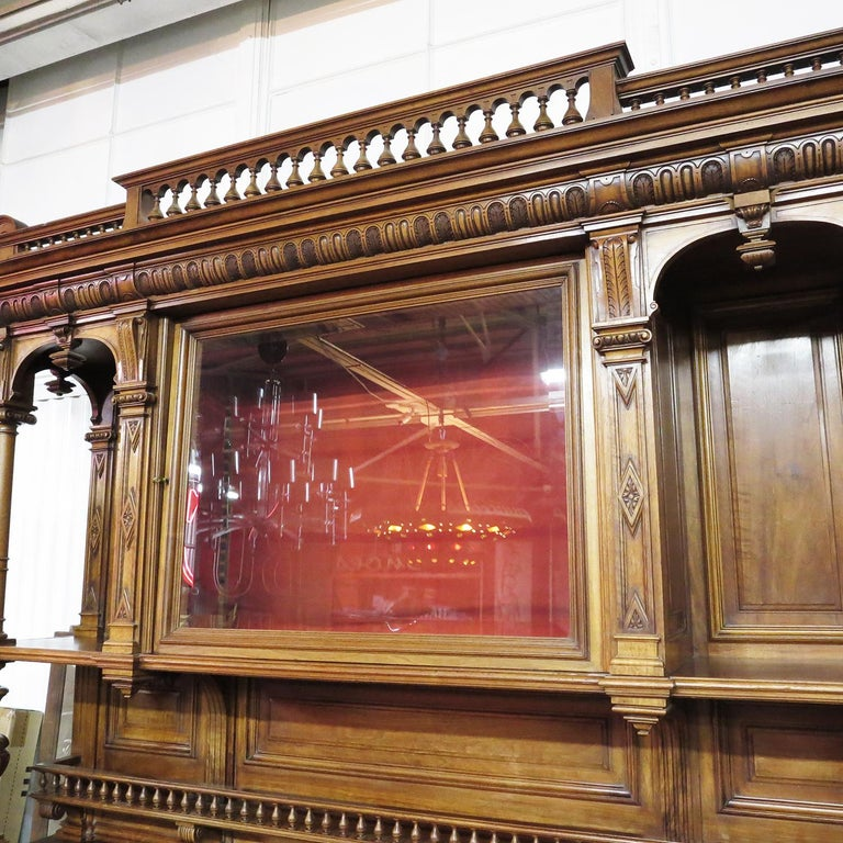Important Italian Renaissance Sideboard Cabinet, Late 19th Century In Good Condition For Sale In North Hollywood, CA