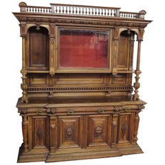 Important Italian Renaissance Sideboard Cabinet, Late 19th Century