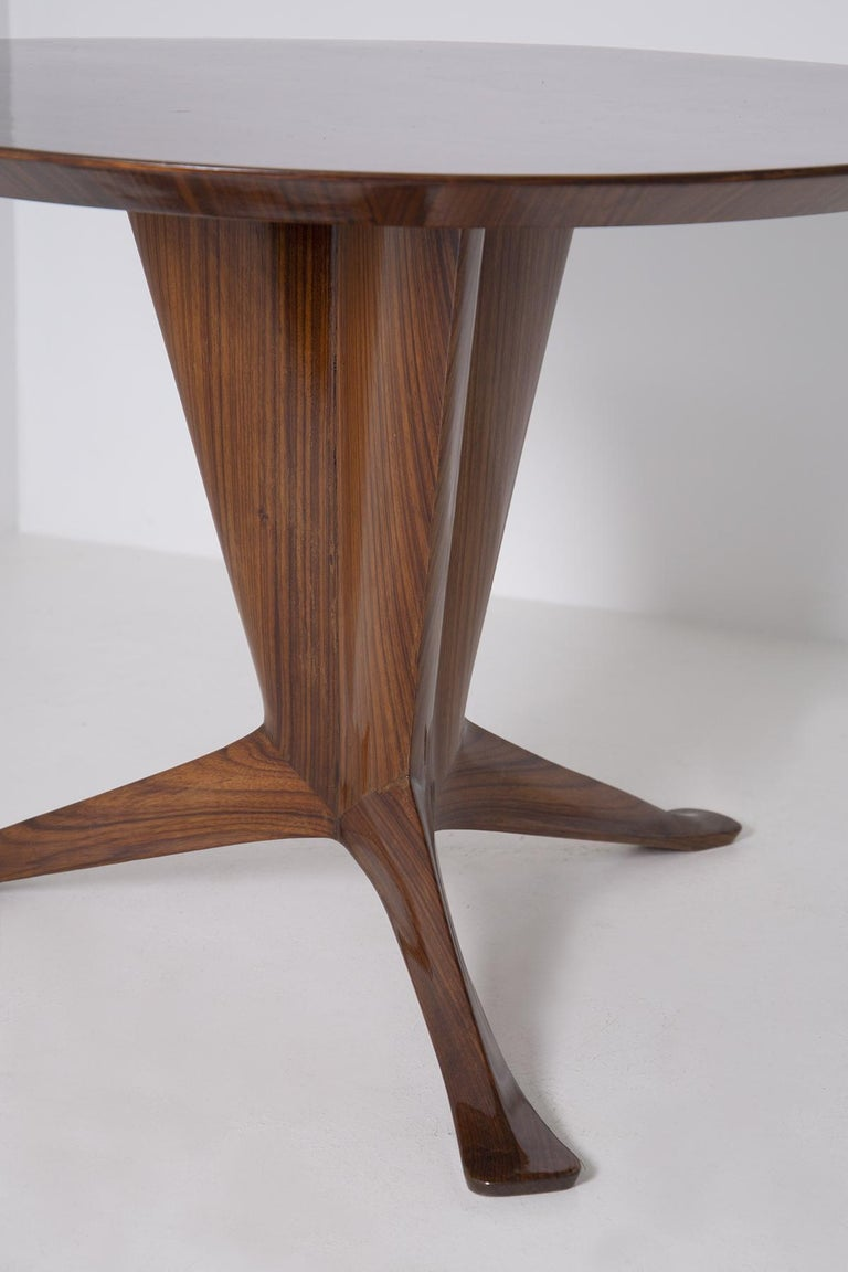 Important Italian Table by Ico Parisi, Unique Piece and Certificate, 1949 In Good Condition In Milano, IT