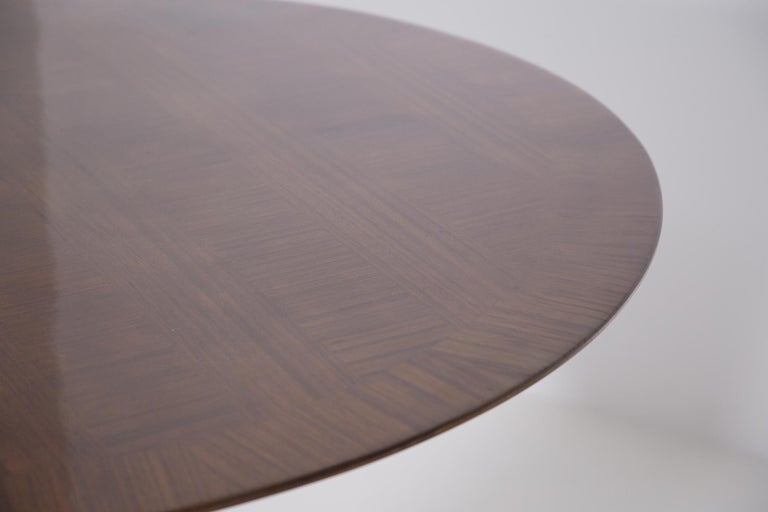 Wood Important Italian Table by Ico Parisi, Unique Piece and Certificate, 1949