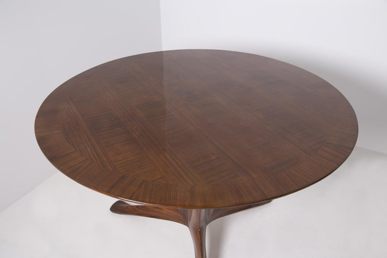 Important Italian Table by Ico Parisi, Unique Piece and Certificate, 1949 1