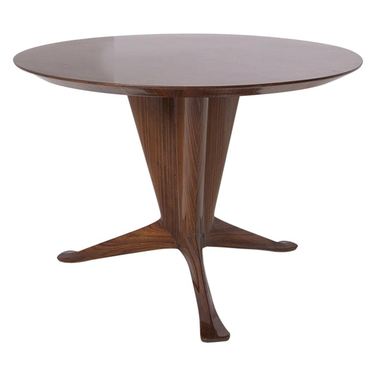 Important Italian Table by Ico Parisi, Unique Piece and Certificate, 1949