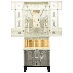 """Important Lacquered Wood """"Architettura Trumeau"""" Cabinet by Piero Fornasetti"""