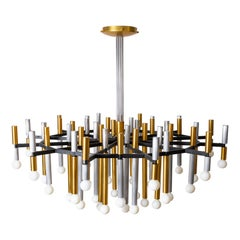 Important Large Stilnovo Chandelier Model 1155/43