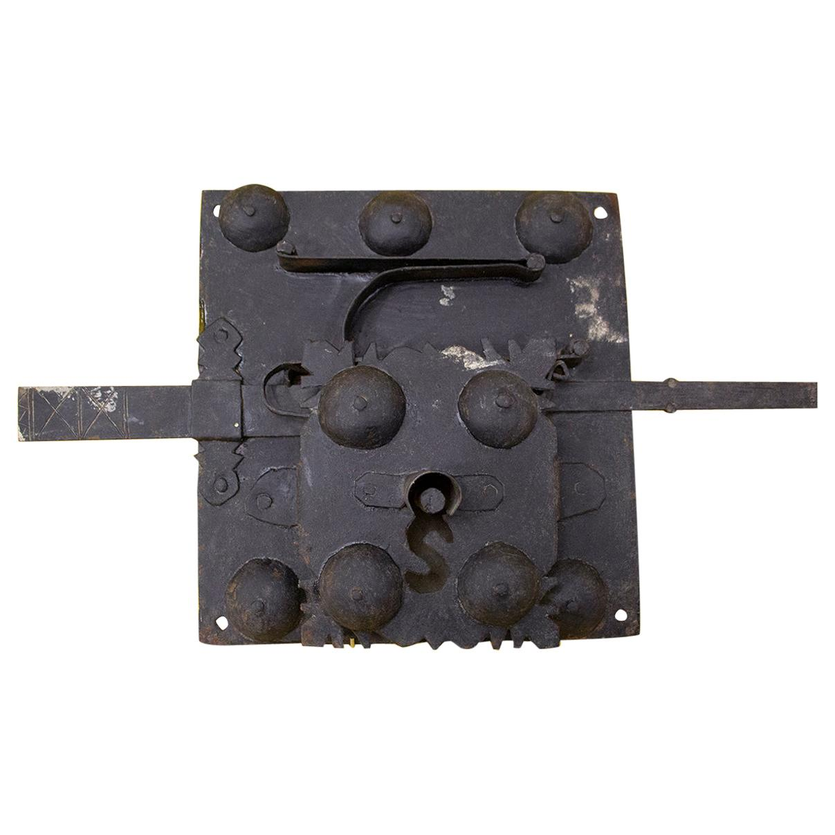 Important Lock in Sheet Steel from the 17th or 18th Century