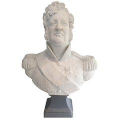 Important Louis-Philippe Plaster Bust, French, circa 1880