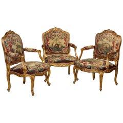 Wichtig Louis XV Salon von Nicolas Heurtaut festgelegt