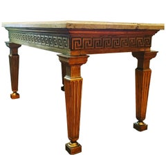 Important Louis XVI Period Russian Giltwood Console or Center Table