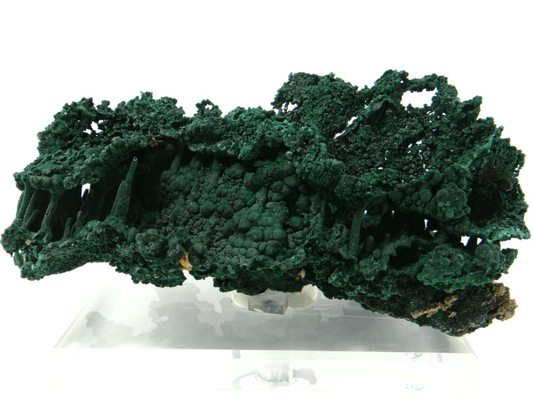 Important Malachite Stalactite from Congo, 1990 For Sale 7