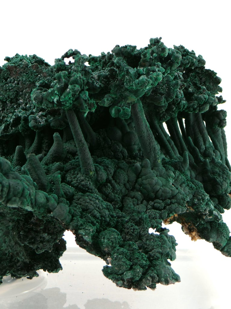 Late 20th Century Important Malachite Stalactite from Congo, 1990 For Sale