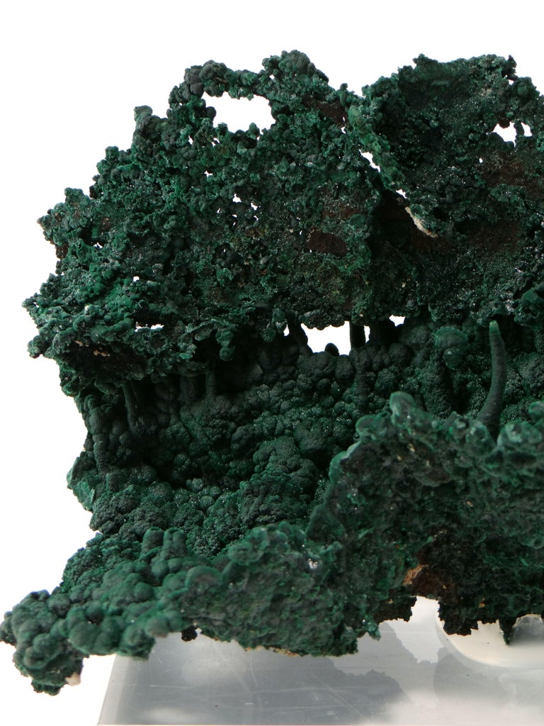 Important Malachite Stalactite from Congo, 1990 For Sale 1