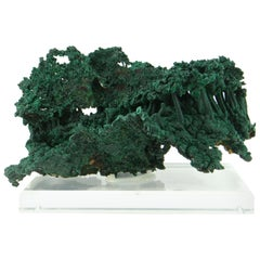 Important Malachite Stalactite from Congo, 1990