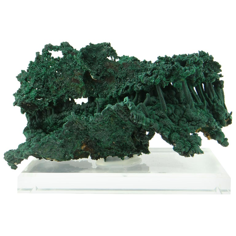 Important Malachite Stalactite from Congo, 1990 For Sale