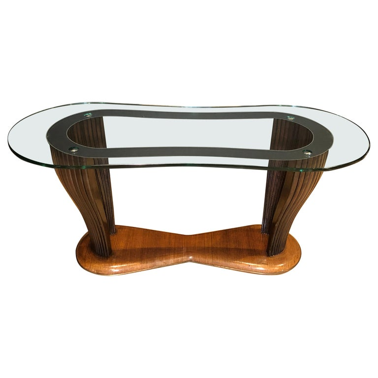 Important Midcentury Coffee Table Santambrogio & De Berti For Sale