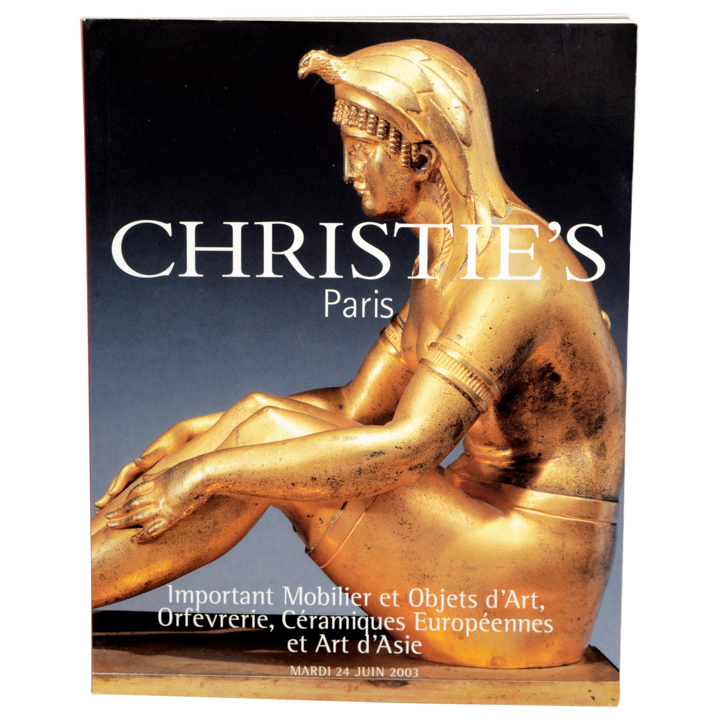Important Mobilier et Objets d'Art, Christie's Catalogue Juin 2003