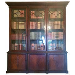 Important Monumental Irish Bookcase Attributed to Mack Williams & Gibton