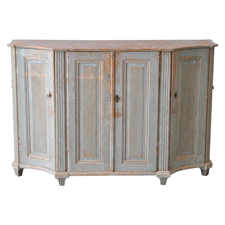 Important Original Paint 18th Century Swedish Buffet