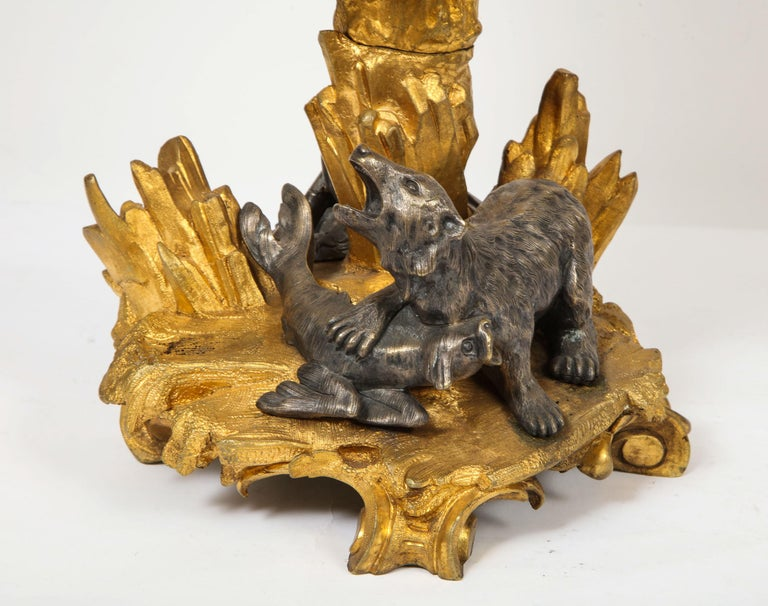 Important Ormolu and Silvered Bronze Figural Wine Cooler, Possibly Russian, 1860 For Sale 6
