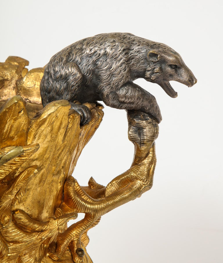 Important Ormolu and Silvered Bronze Figural Wine Cooler, Possibly Russian, 1860 For Sale 10