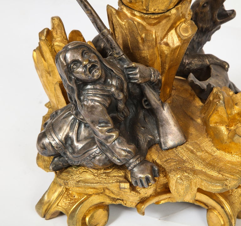 Important Ormolu and Silvered Bronze Figural Wine Cooler, Possibly Russian, 1860 For Sale 13