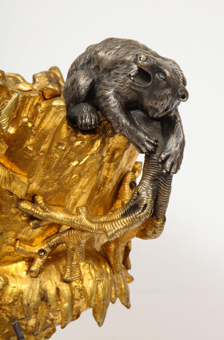 Important Ormolu and Silvered Bronze Figural Wine Cooler, Possibly Russian, 1860 For Sale 15