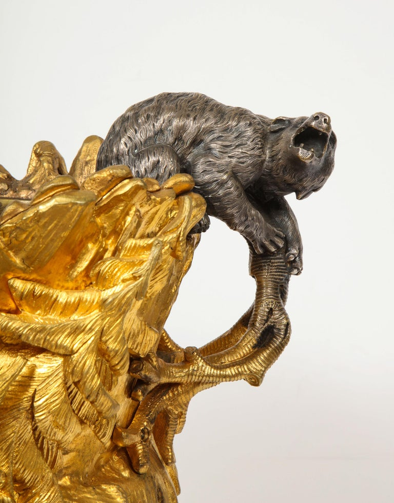 Important Ormolu and Silvered Bronze Figural Wine Cooler, Possibly Russian, 1860 For Sale 16