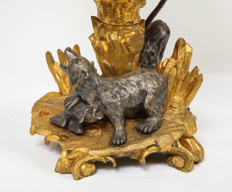 Important Ormolu and Silvered Bronze Figural Wine Cooler, Possibly Russian, 1860 For Sale 3