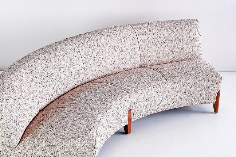 Scandinavian Modern Important Otto Schulz Curved Four-Seat Sofa for Boet, Sweden, Mid-1940s For Sale