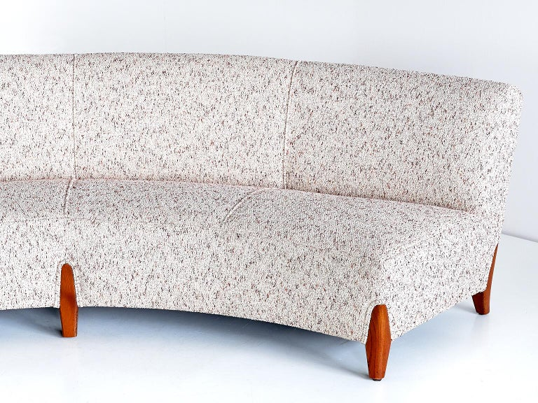 Important Otto Schulz Curved Four-Seat Sofa for Boet, Sweden, Mid-1940s For Sale 1