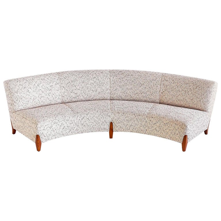 Important Otto Schulz Curved Four-Seat Sofa for Boet, Sweden, Mid-1940s For Sale