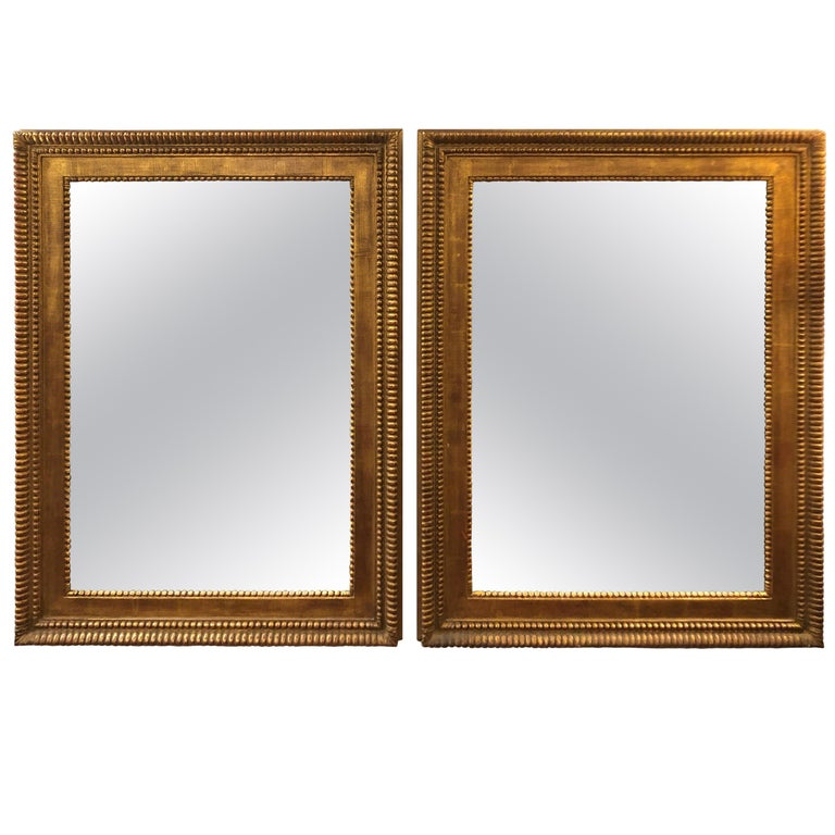 Antique Gold Leaf Carved Wood Mirrors