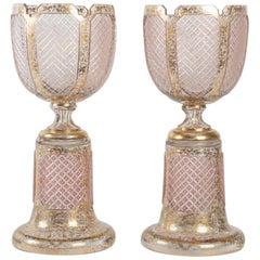 Important Pair of Bohemian Crystal Bowls Napoleon III