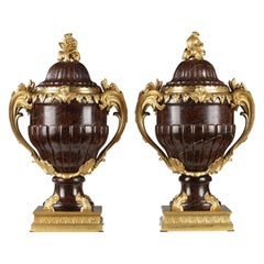 Important Pair of Covered Vases Attributed to Maison Lexcellent