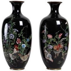 Important Pair of Japanese Vases