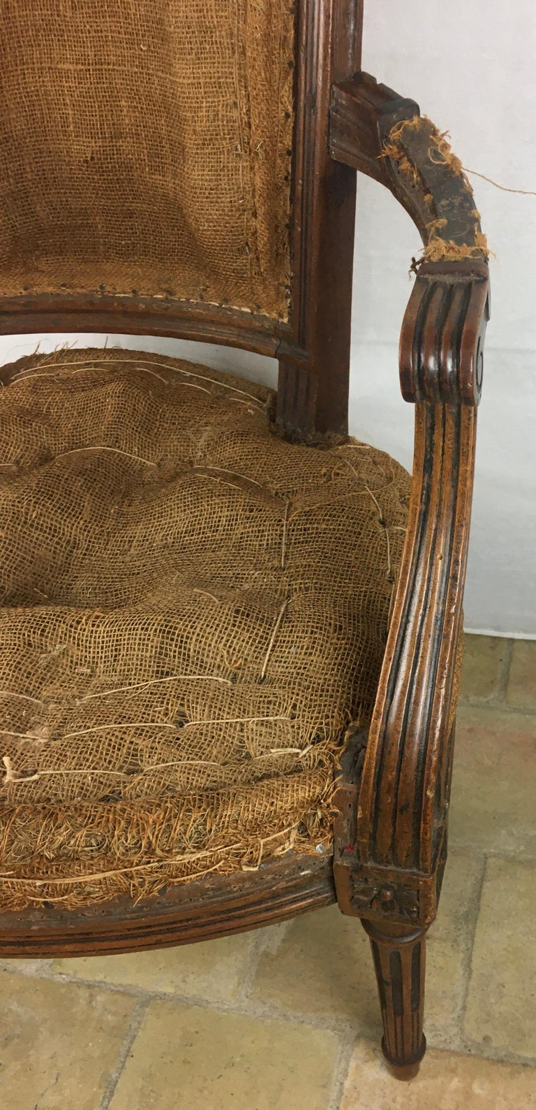 Important Pair of Stamped Louis XVI 18th Century Armchair or Fauteuils For Sale 5