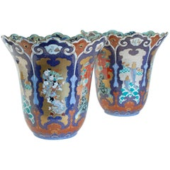Important Pair of Vases from Japan Signed Fuqukawa