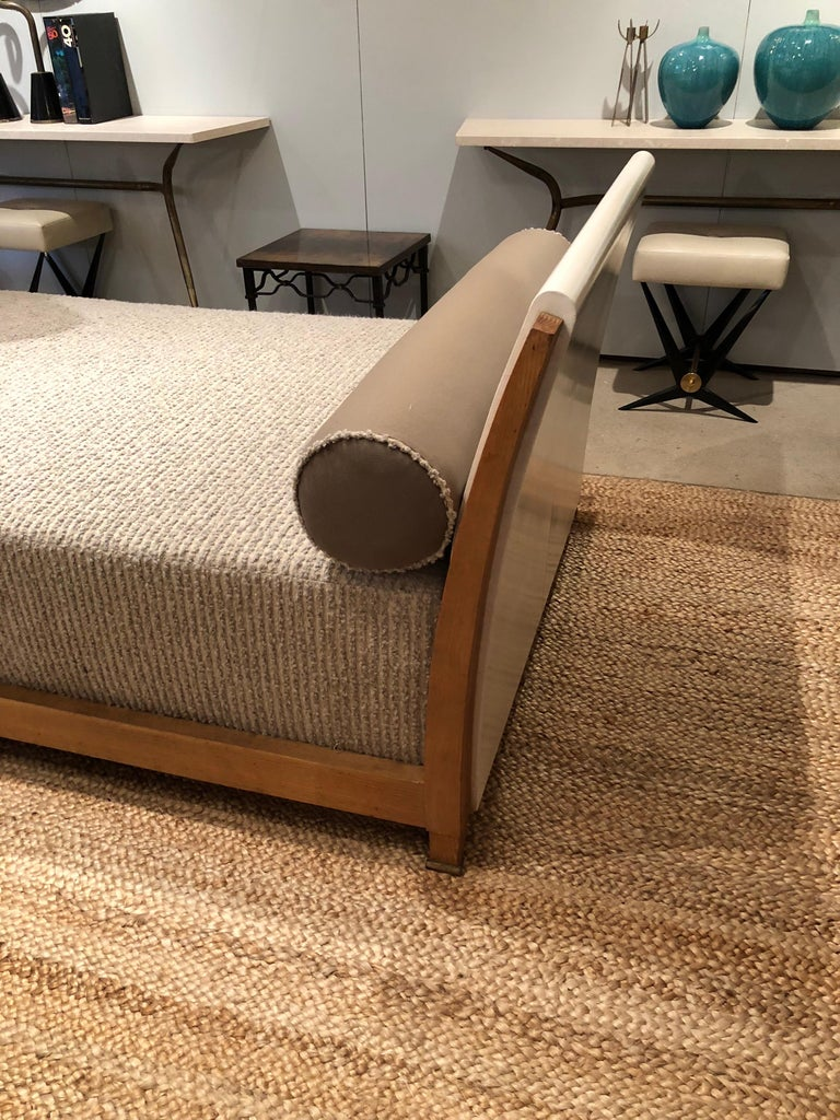 Important Parchment Daybed by Jansen For Sale 8