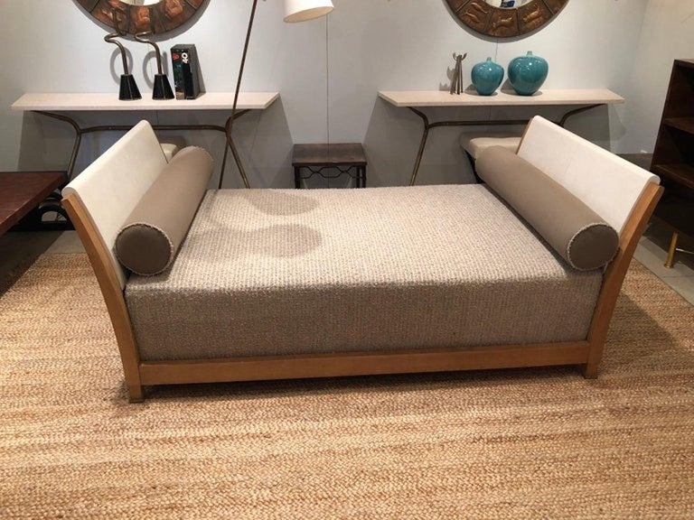 Important Parchment Daybed by Jansen For Sale 9